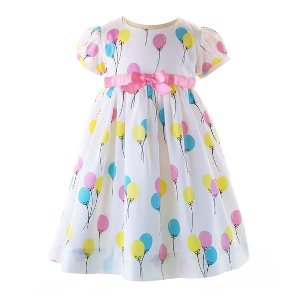Baby Girl Balloon Print Birthday Dress & Bloomers