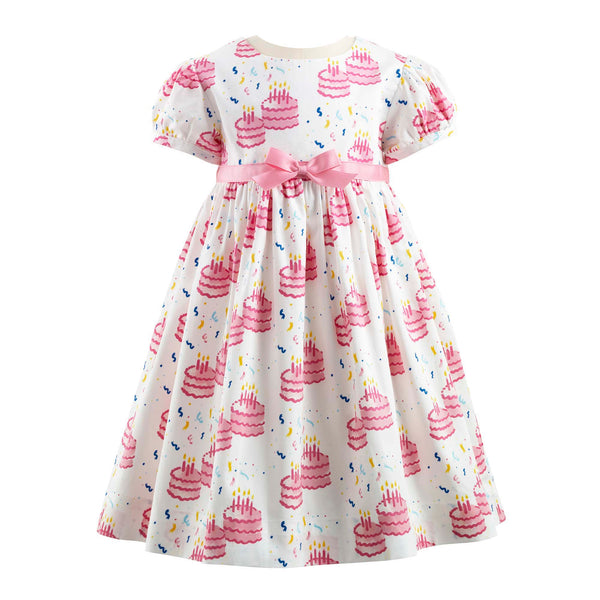 Baby Girl Pink Birthday Cake Dress & Bloomers