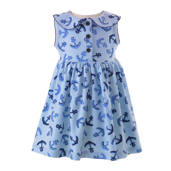Baby Girl Anchor Jersey Dress