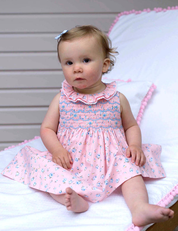 Rose Frill Smocked Dress & Bloomers