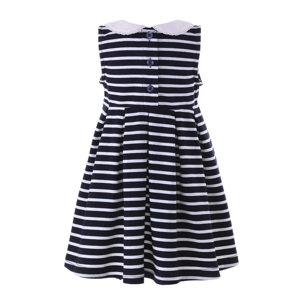 Navy Breton Stripe Jersey Dress