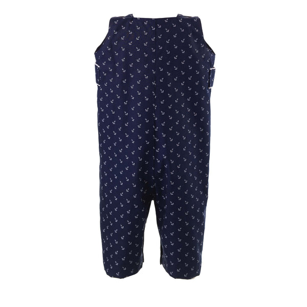 Baby Boy Nautical Anchor Print Overalls