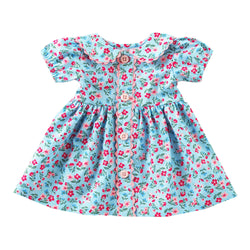 Dolly Blue Floral Button Front Dress