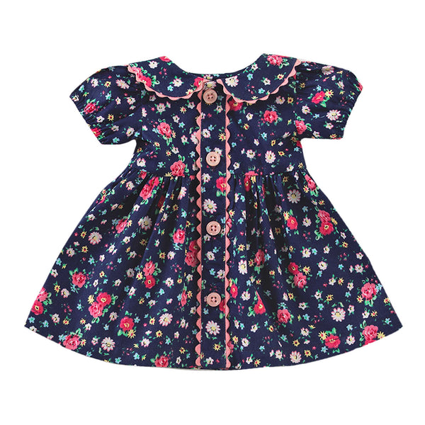 Dolly Floral Button-front Dress