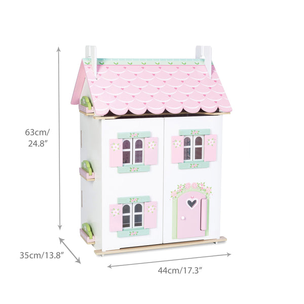 Sweetheart Cottage Doll House With Furniture
