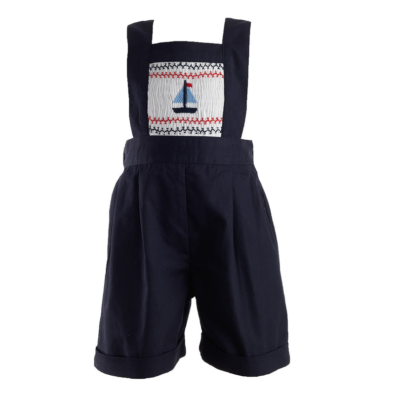 Sailboat Smocked Dungaree