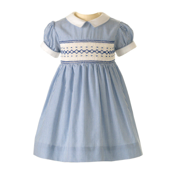 Striped Smocked Dress & Bloomer