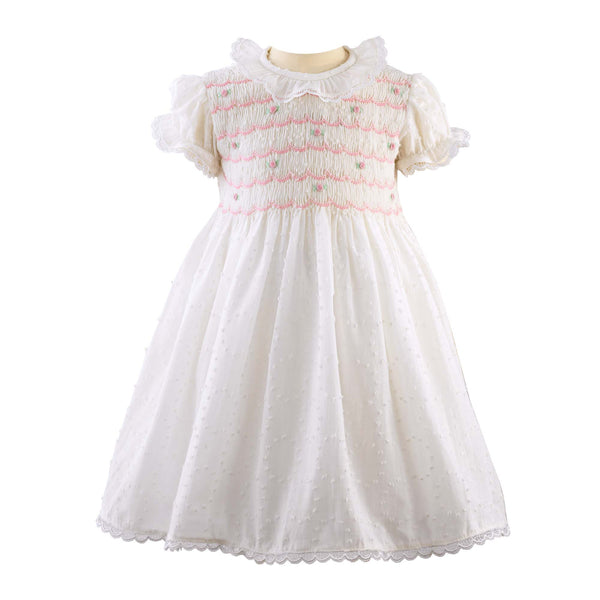 Swiss Dot Smocked Dress & Bloomers