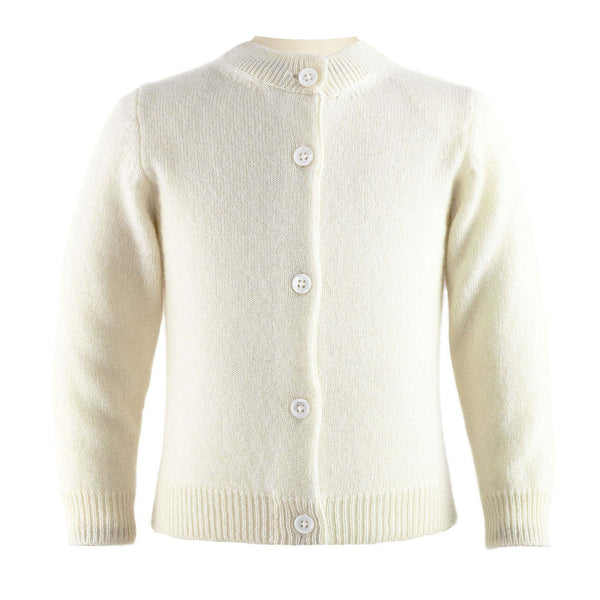 Baby Girl Ivory Cashmere Cardigan