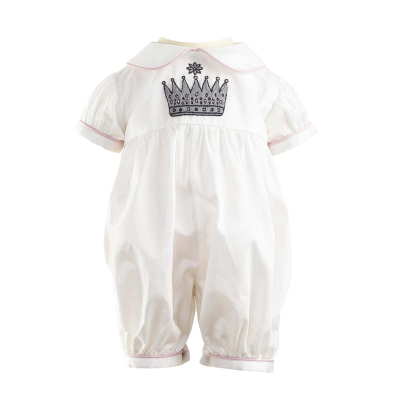 Princess Crown Embroidered Babysuit