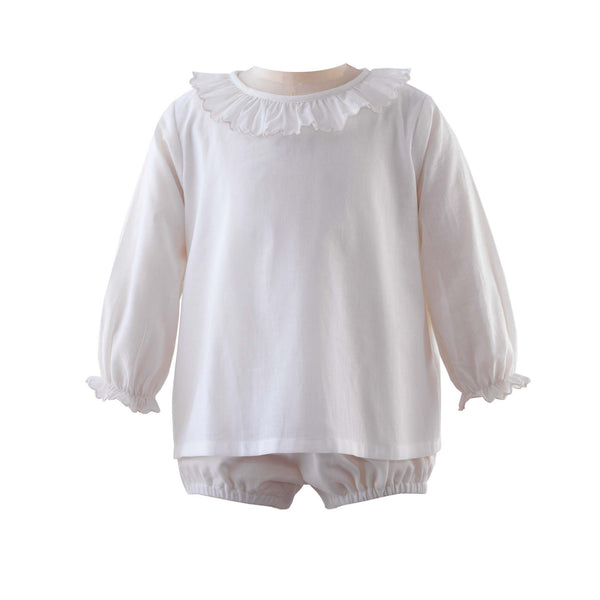 Frill Collar Body, Ivory