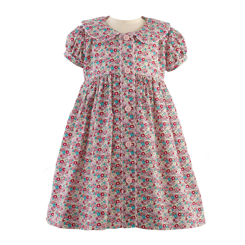 Ditsy Floral Button Front Dress & Bloomers