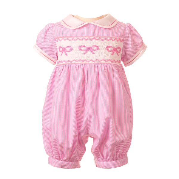 Bow Smocked Babysuit