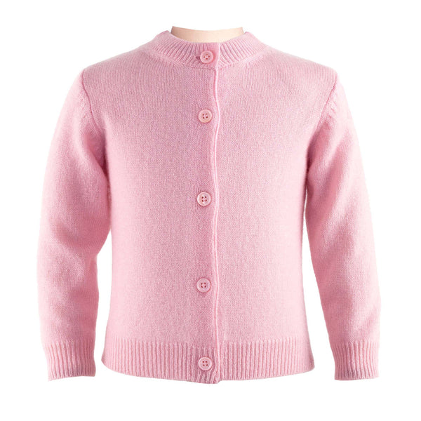 Baby Girl Pink Cashmere Cardigan