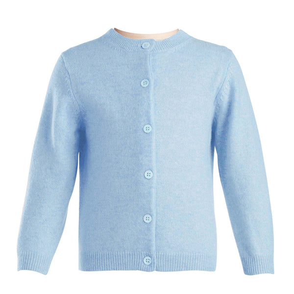 Girls Blue Cashmere Cardigan