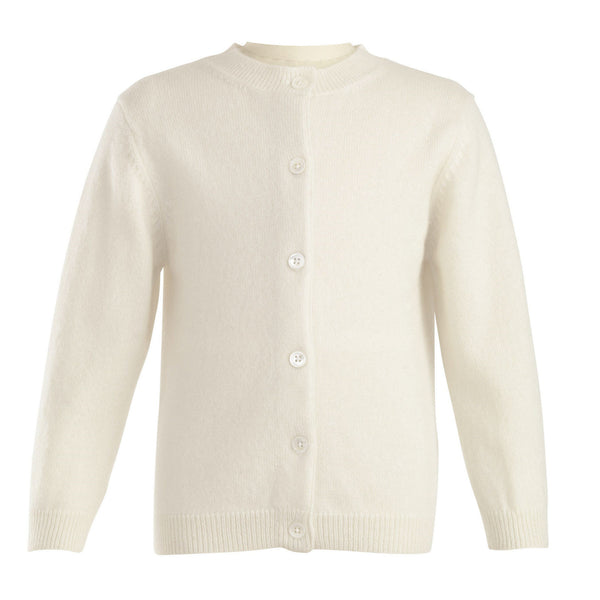 Girls Ivory Cashmere Cardigan