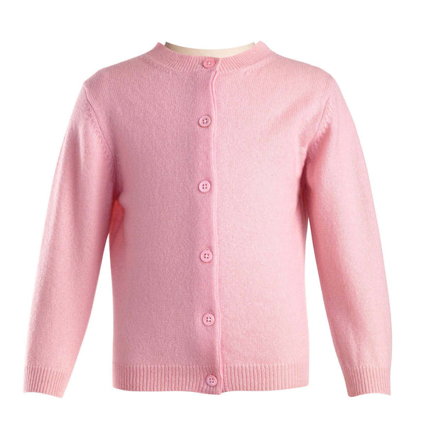 Girls Pink Cashmere Cardigan