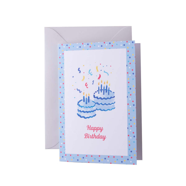 Happy Birthday Blue Greeting Card