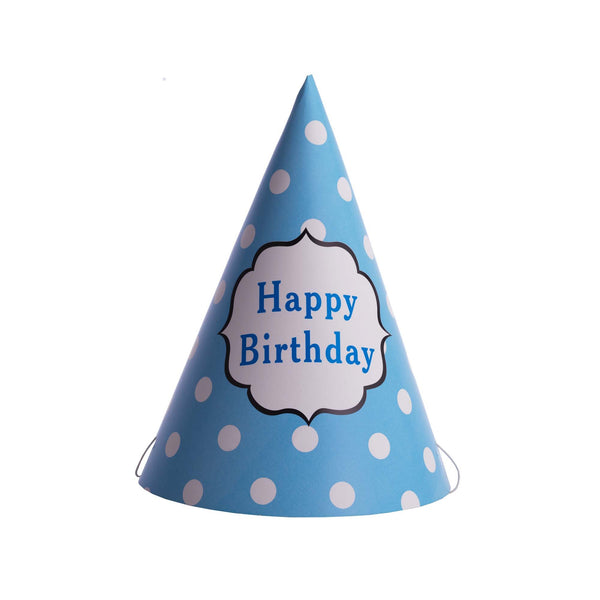 Polka Dot Birthday Hat Blue