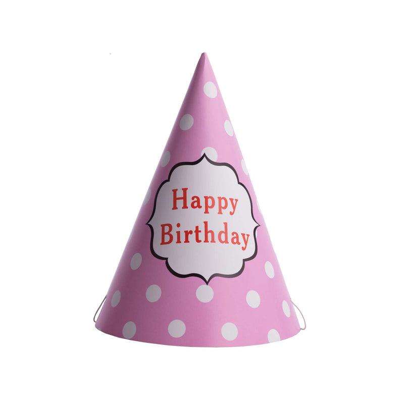Polka Dot Birthday Hat Pink
