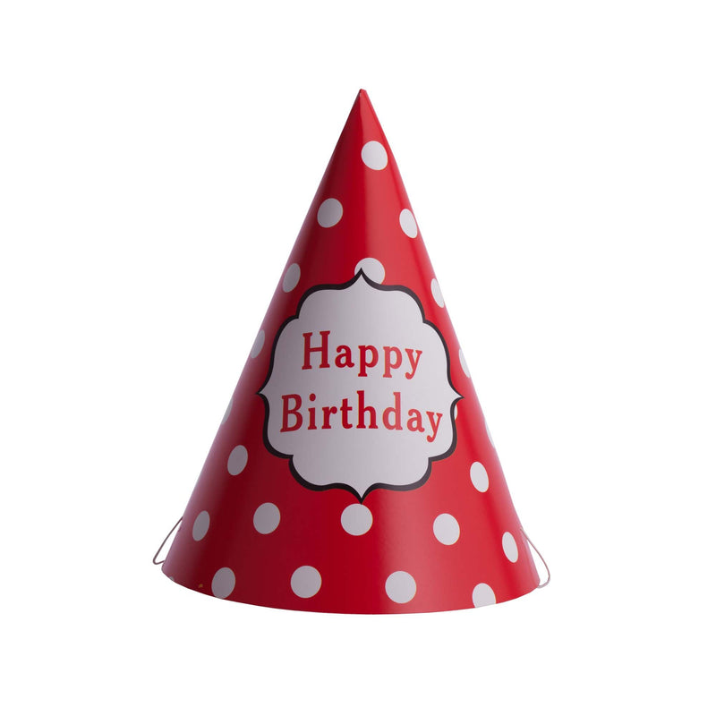 Polka Dot Birthday Hat Red