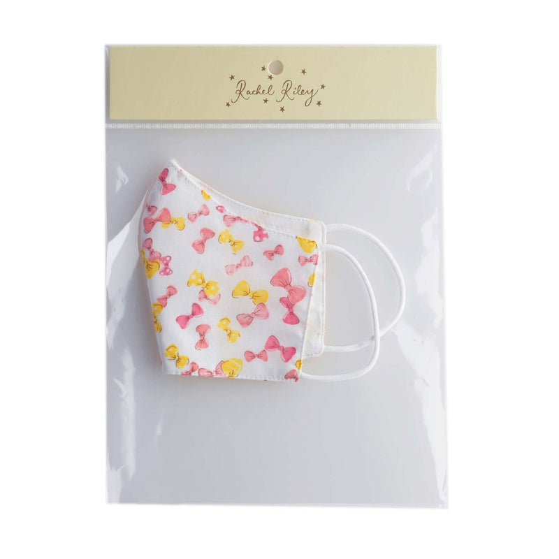 Pink Bow Print Face Mask, Women's