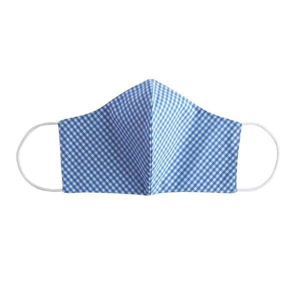 Blue Gingham Face Mask, Men's