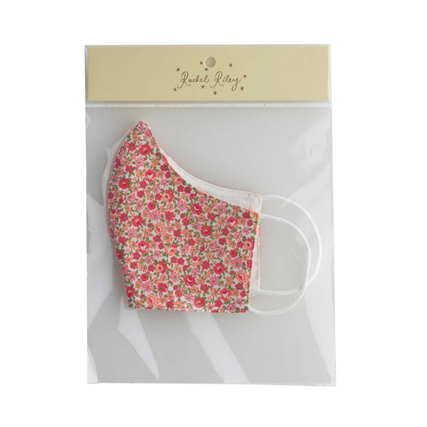 Pink Ditsy Floral Print Face Mask, Children's