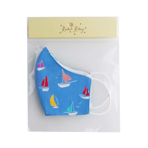 Sailboat Print Face Mask, Childdren's