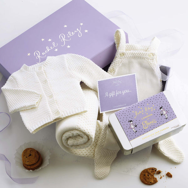 Mom & New Baby Moss Stitch Cookie Gift Set