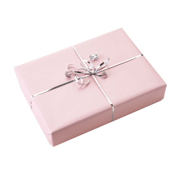 Pink Wrapping Paper & Silver Ribbon