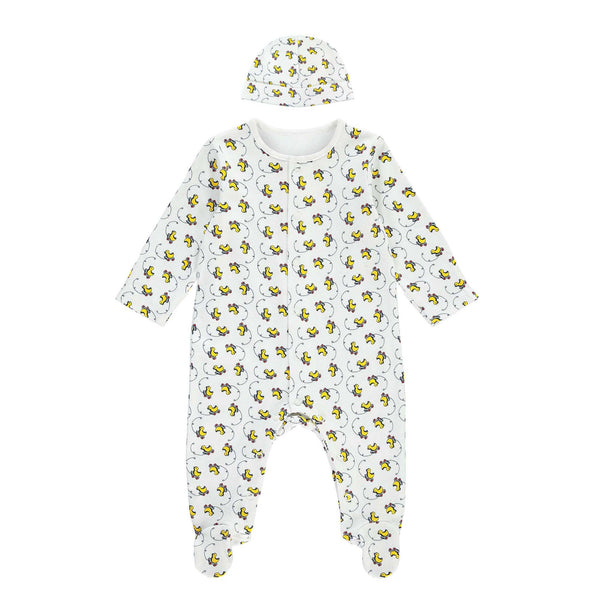Toy Duck Babygro & Hat Set