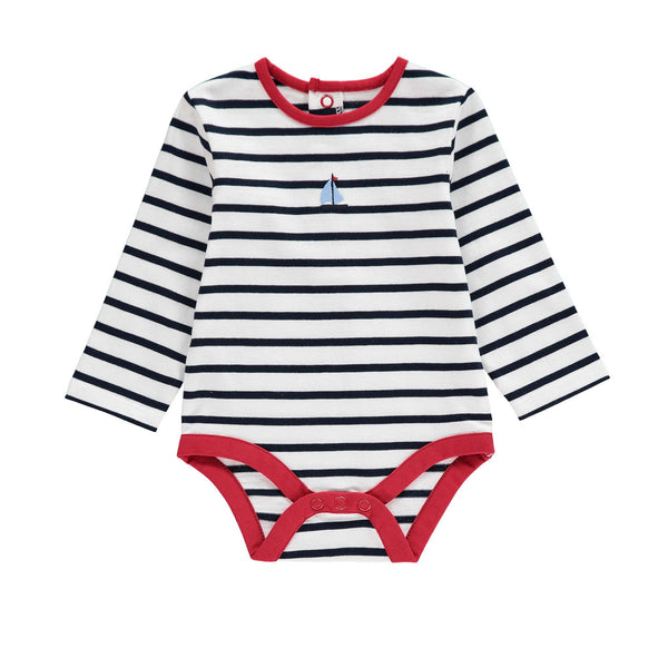 baby bodysuit, nautical baby outfit, baby boy outfit, baby boy clothes, sailboat baby outfit, preppy baby boy clothes, striped nautical bodysuit for baby boys