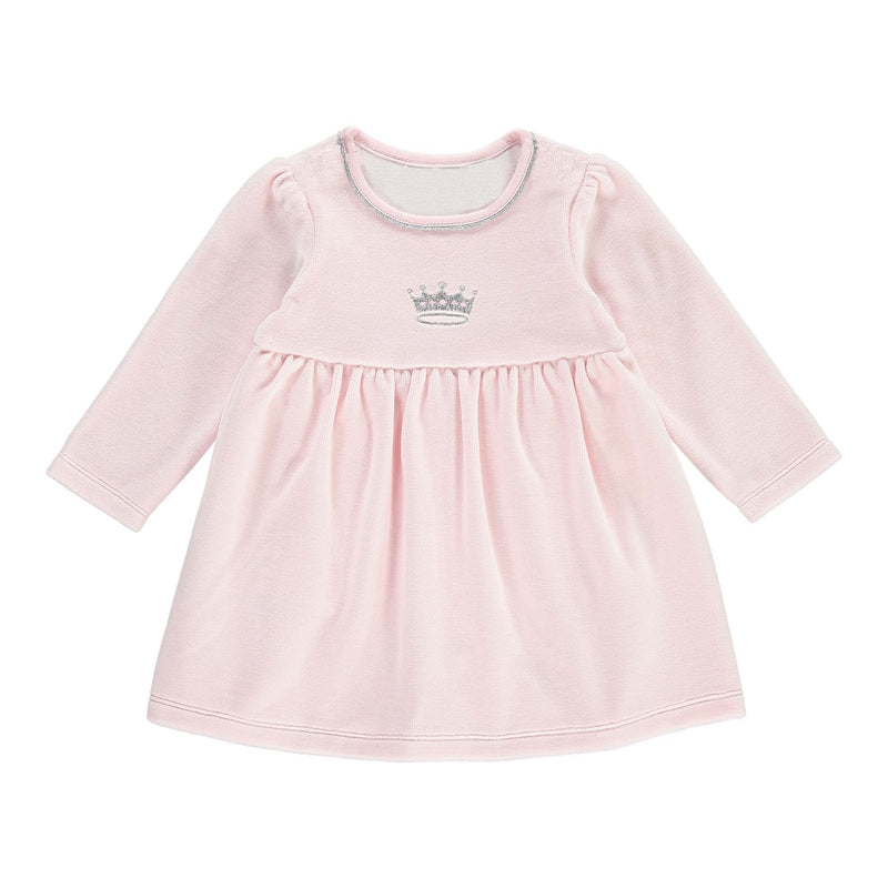 Princess Embroidered Velour Dress