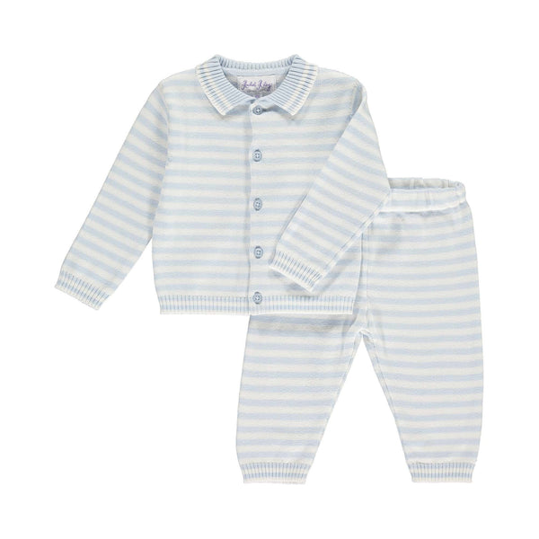 Striped Cardigan & Trouser Set