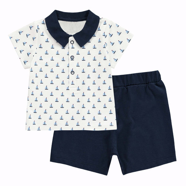 Sailboat Polo & Short Set