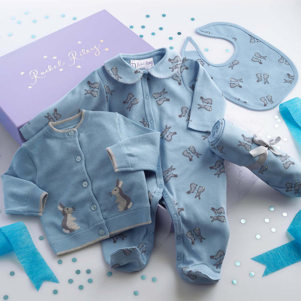 Blue Bunny Baby Gift Box