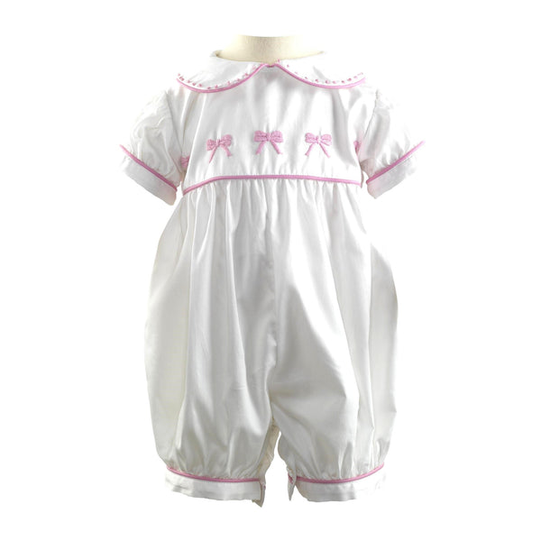 Bow Embroidered Babysuit