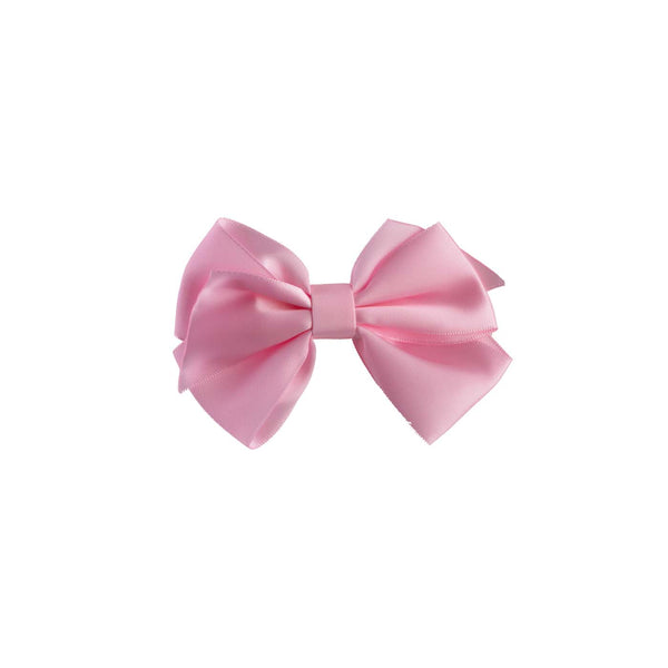 Pink Satin Ribbon Hairbow