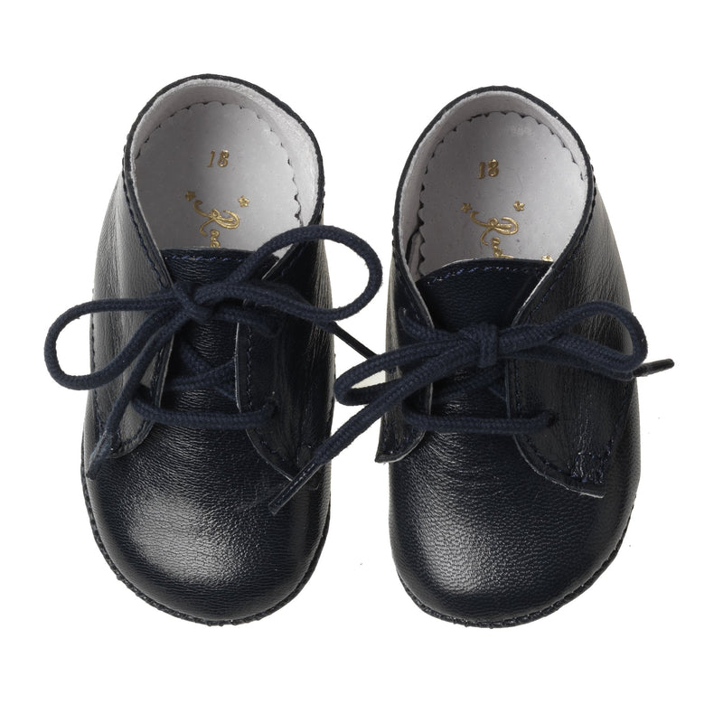 Lace Up Bootees, Navy