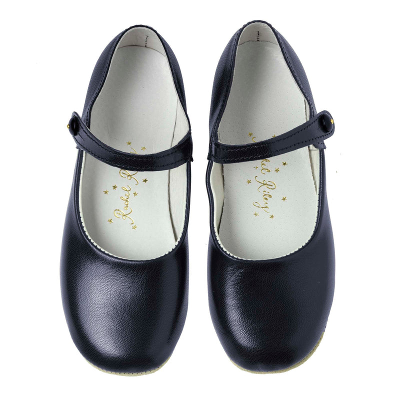 Button Strap Slipper, Navy