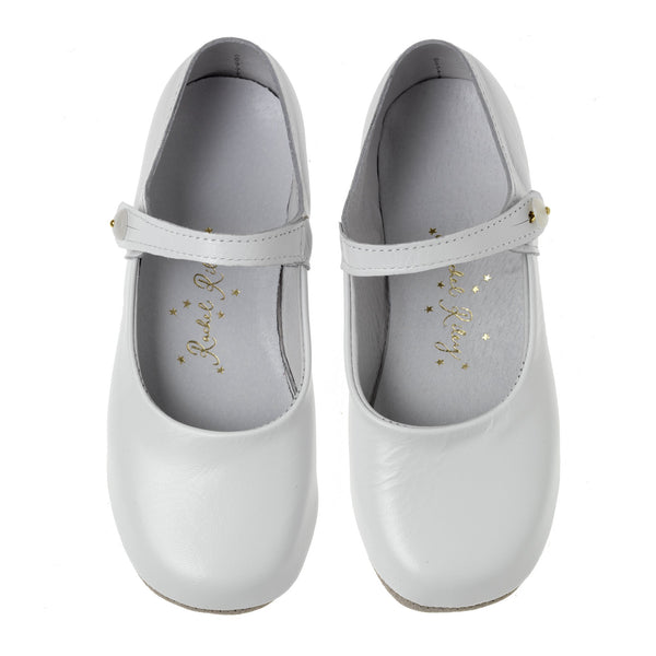 Button Strap Slipper, White