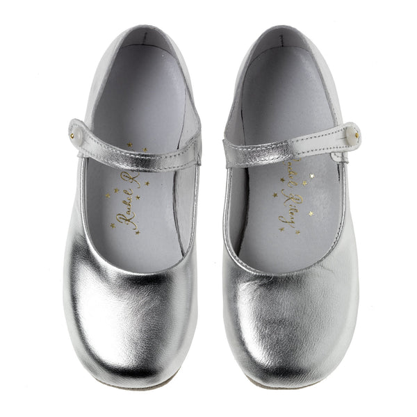 Button Strap Slipper, Silver