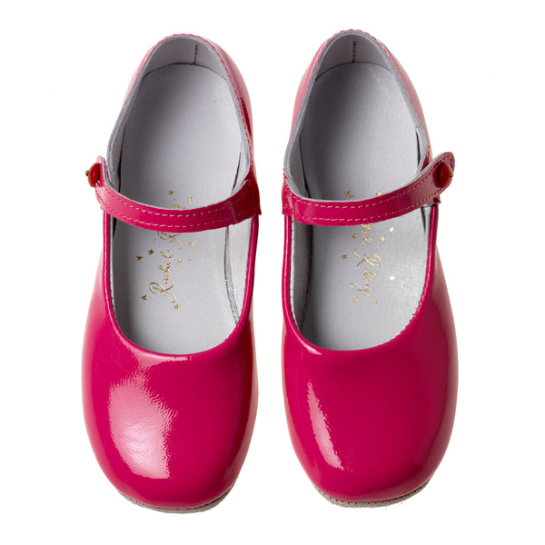 Button Strap Slipper, Fuchsia Patent