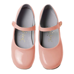 Button Strap Slipper, Pale Pink Patent