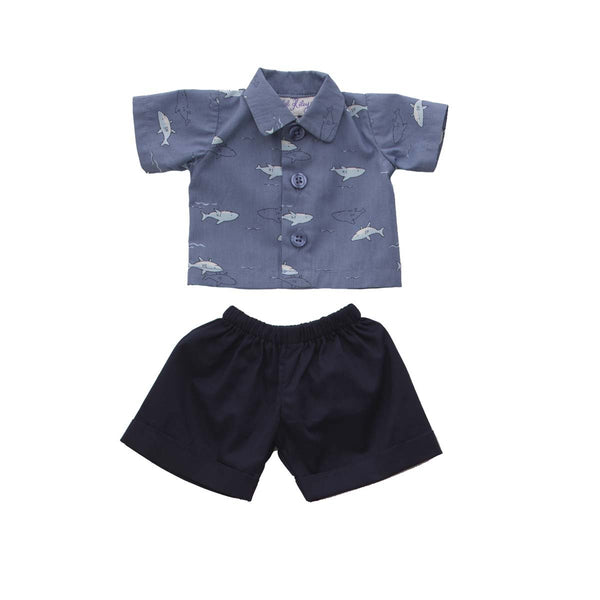Teddy Shark Shirt & Short Set