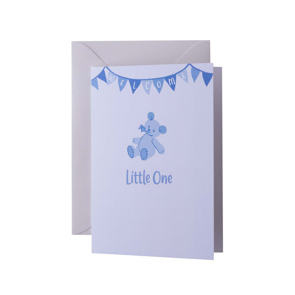 Little One Blue Greeting Card