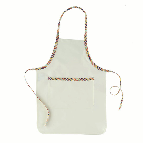 Child's Cream Apron with Pocket