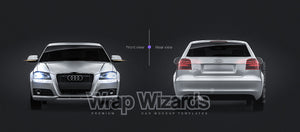 AUDI A3 P8 HATCHBACK all sides Car Mockup Template.psd