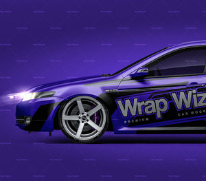 Acura TL 2007 all sides Car Mockup Template.psd